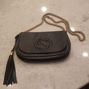 Gucci Bags - GUCCI SOHO BLACK GOLD CHAIN MEDIUM CROSSBODY